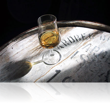 A 27-year old Ardbeg malt from a Fino sherry cask, shot in Ardbeg's warehouse during the Malt Whisky festival in 2002.